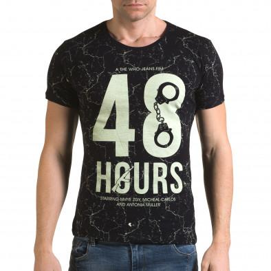 Мъжка синя тениска 48 Hours Lagos 4