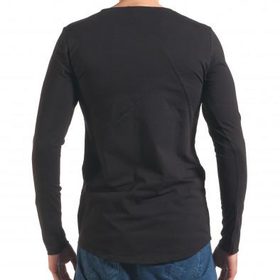 Черна мъжка блуза с дълъг ръкав Black Fox 4