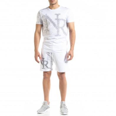 Бял мъжки спортен комплект Airplane tr010720-8 2