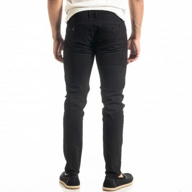 Slim fit Chino мъжки панталон в черно it020920-20 3