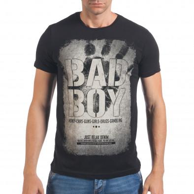 Мъжка черна тениска Bad Boy il060616-6 2