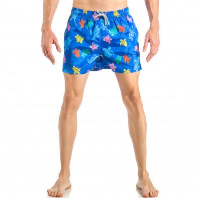 Мъжки син бански на цветни костенурки it040518-104 2