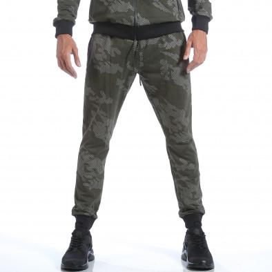 Мъжки зелен спортен комплект с камуфлажна шарка it160817-75 5