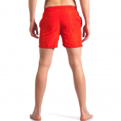 Мъжки бански в червено с лого Graceful 4