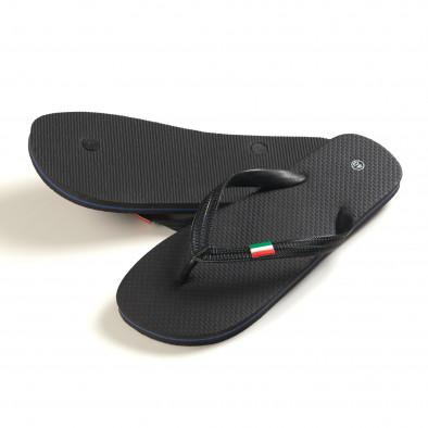 Мъжки черни джапанки с Италианското знаме it150616-5 3