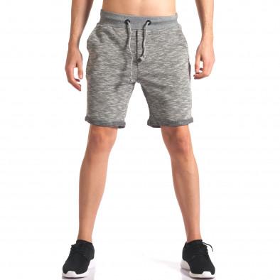 Мъжки сиви спортни шорти it250416-11 2