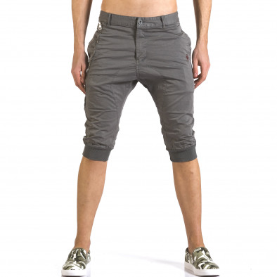 Мъжки сиви къси панталони тип потури it110316-51 2