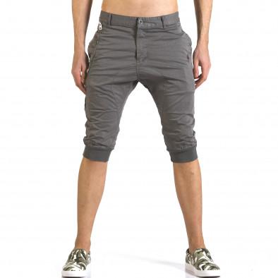 Мъжки сиви къси панталони тип потури TMK 5