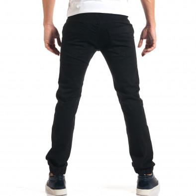 Мъжки черни дънки с връзки на кръста it160916-13 3