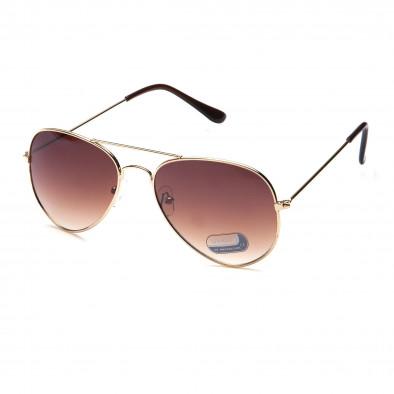 Мъжки кафяви авиаторски слънчеви очила Bright 3