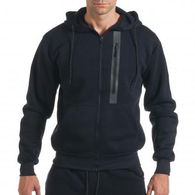 Мъжки син спортен комплект с декоративни ципове it160916-54 4
