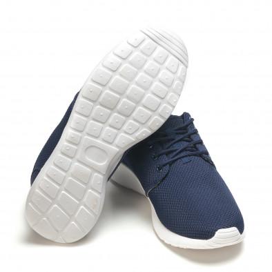 Тъмно сини мъжки маратонки ултра лек модел it210416-1 4
