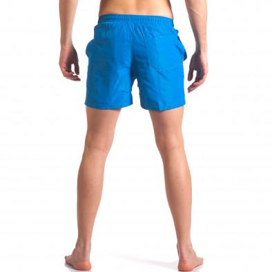 Мъжки бански тъмно сини с лого tsf250416-70 3