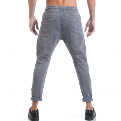 Мъжки сиви дънки с ластик на кръста it160817-58 3