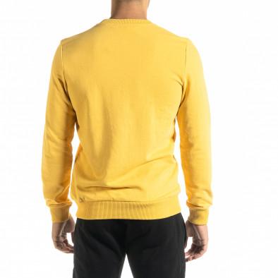 Basic мъжка памучна блуза в жълто tr020920-42 3