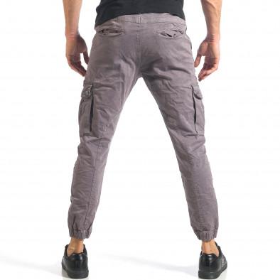 Мъжки сив карго панталон с ленти отстрани it290118-12 3