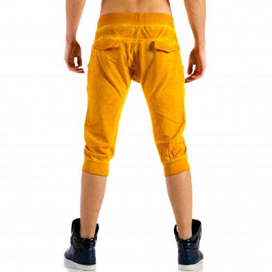 Мъжки жълти къси панталони с изтрит ефект  ca100514-14 3