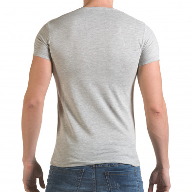 Мъжка сива тениска с принт крила и Италианското знаме il170216-78 3