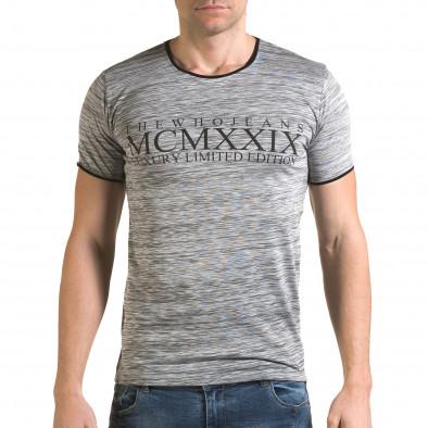 Мъжка сива тениска MCMXXIX Lagos 4