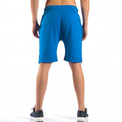 Мъжки сини шорти със златна звезда it160616-15 3