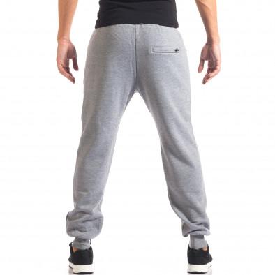 Мъжко сиво долнище с ципове на джобовете it160816-9 3