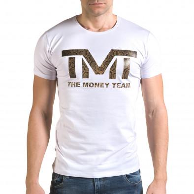 Мъжка бяла тениска TMT Glamsky 4