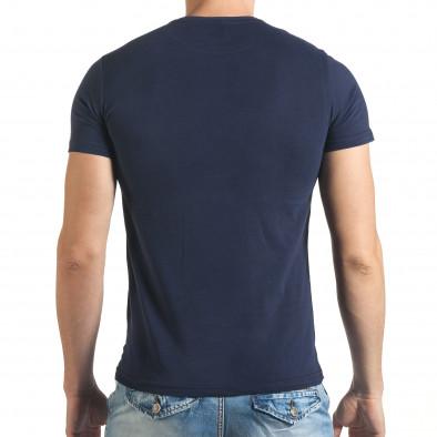 Тъмно синя тениска с лятна картинка il140416-47 3