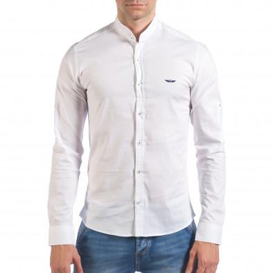 Мъжка бяла риза с попска яка il060616-110 2