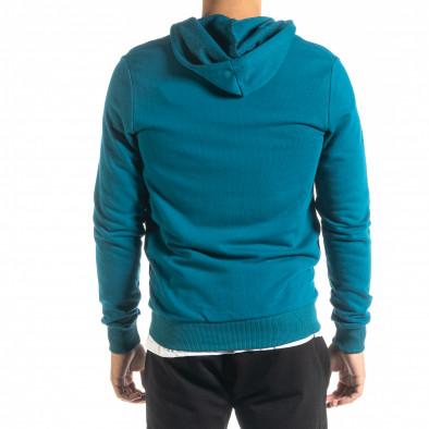 Basic мъжки суичър цвят тюркоаз tr020920-38 3