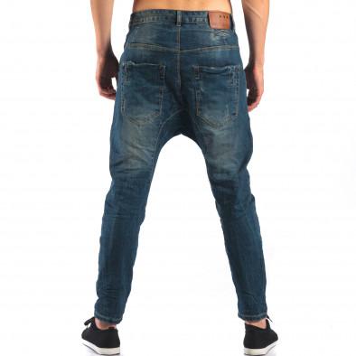 Мъжки дънки със смъкнато дъно тип потури it160616-33 3