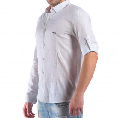 Мъжка бяла риза с малки разноцветни детайли il210616-28 4