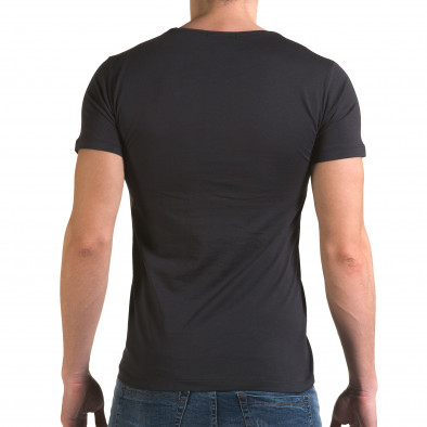Мъжка сива тениска с череп отпред il120216-26 3