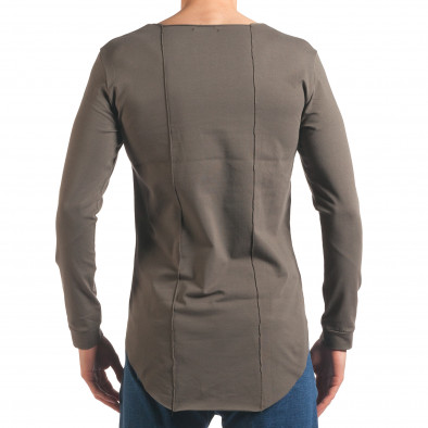 Мъжка зелена блуза с дълъг ръкав и метални капси it250416-77 3