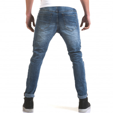 Мъжки светло сини слим дънки с декоративни копчета it090216-5 3