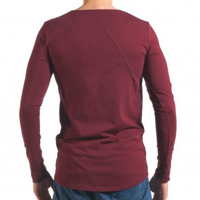 Червена мъжка блуза с дълъг ръкав Black Fox 4