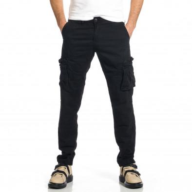 Мъжки черен панталон с прави крачоли & Big Size tr270421-15 2