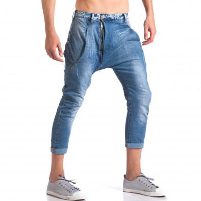 Мъжки дънки с големи яки джобове отпред ca110215-33 4