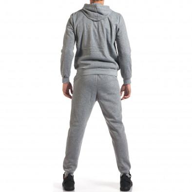 Мъжки сив спортен комплект с надпис it160916-58 3