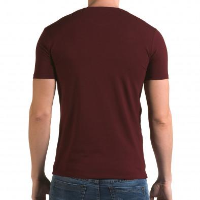 Мъжка червена тениска с номер 4 il120216-45 3