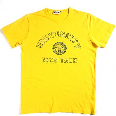 Мъжка тениска Marcus с щампован надпис 070213-1 2
