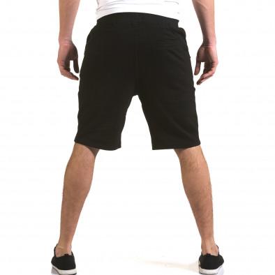 Мъжки черни шорти с надпис it230216-3 3