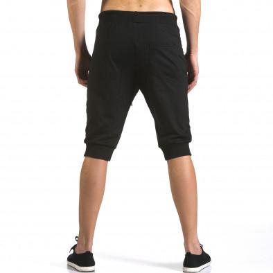 Мъжки черни къси потури с ципове на джобовете it110316-86 3