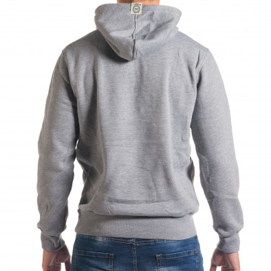 Мъжки сив суичър с голям надпис it240816-11 3
