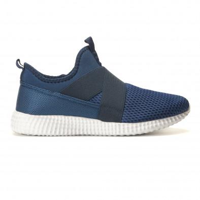 Мъжки сини маратонки без връзки it110517-5 3