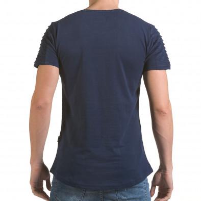 Мъжка синя тениска с надпис Life is a Laugh Click Bomb 4