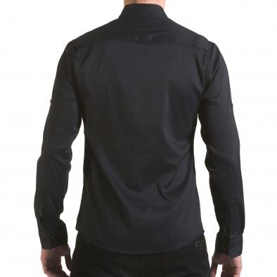 Мъжка черна риза с малки разноцветни детайли il170216-114 3