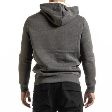 Мъжки сив суичър Hip Hop стил it301020-35 4