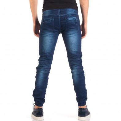 Мъжки тъмно сини дънки с връзки на кръста it150816-28 3