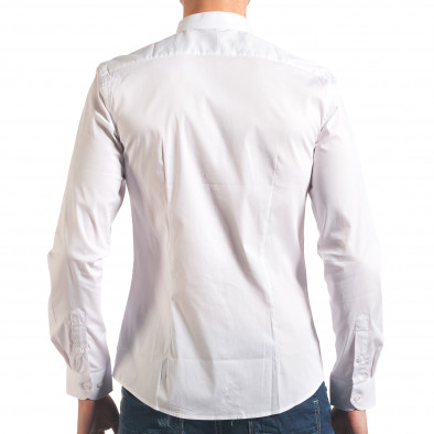 Бяла мъжка риза с попска яка Akusawa 4