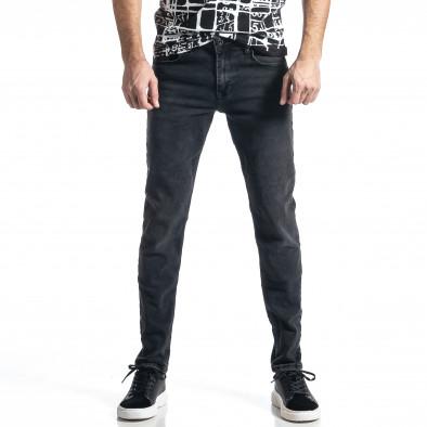 Long Slim дънки плътен деним в черно tr010221-29 2